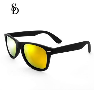Sodear retro sunglasses 2017 fashion polarized couple sunglasses black gold