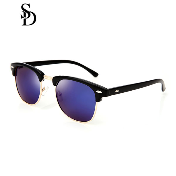 Sodear alloy polarized sunglasses women and men leisure sunglasses black purple