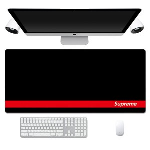Fashion Supreme Black Red Pattern Lengthen Computer Gaming Mouse Pad