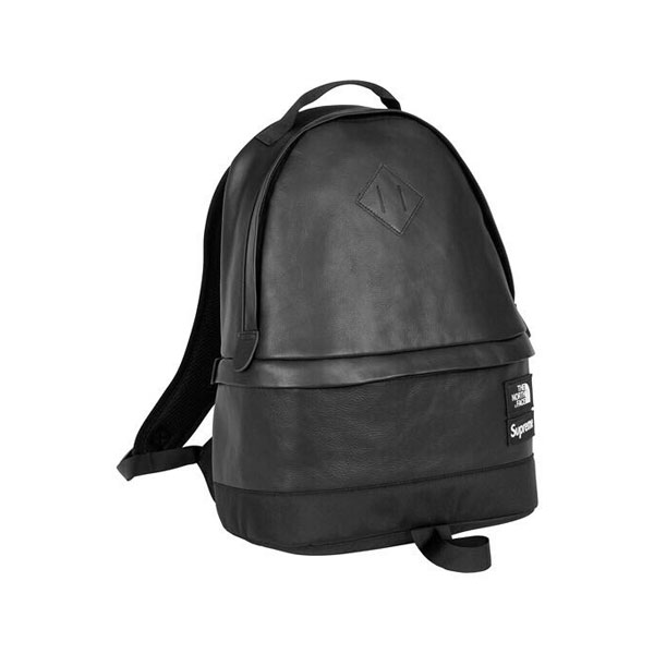 Supreme x The North Face Leather Day Pack leisure shoulder bag core black