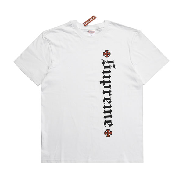 Supreme 17FW Independent Old English Tee sportswear classic t-shirt white