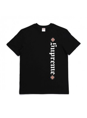 Supreme 17FW Independent Old English Tee sportswear classic t-shirt black