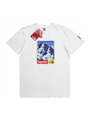 Supreme TNF 17FW Mountain T-Shirt Tee men and women sportswear white