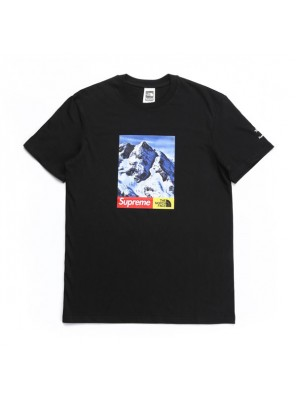 Supreme TNF 17FW Mountain T-Shirt Tee men and women sportswear black