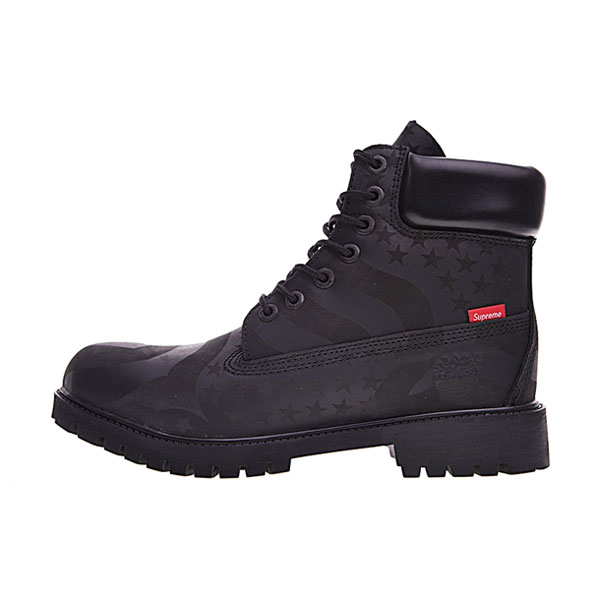 Supreme x Timberland 6-Inch Waterproof Boot USA Sneaker Men Boots Black