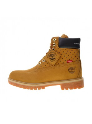 Comme Des Garcons x Supreme x Timberland Premium 6 Inch Leather Boots Brown