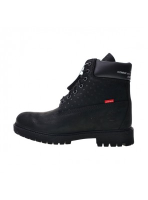 Comme Des Garcons x Supreme x Timberland Premium 6 Inch Leather Boots Black