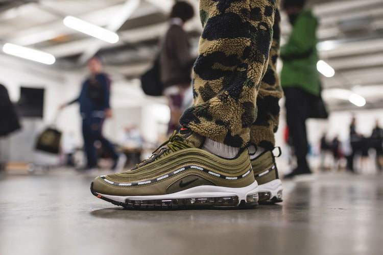 Undefeated x Nike Air Max 97 Olive sneaker men and women